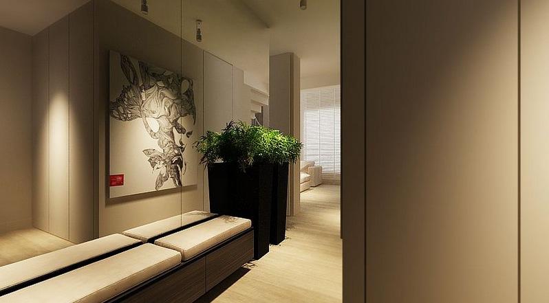 Contemporary Hallway Interior Designer in NYC Jonathan Baron